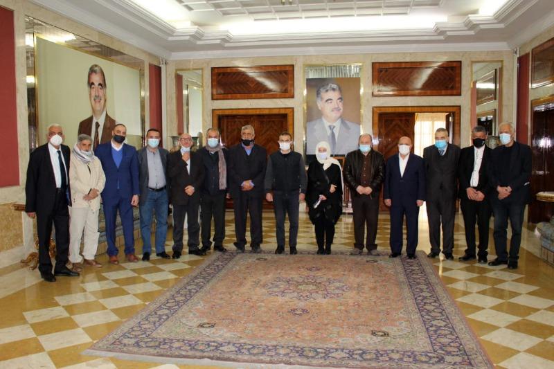 """بهية الحريري استقبلت وفدا مشتركاً من  اتحادات عمال """" تركيا ولبنان وفلسطين"""":"""