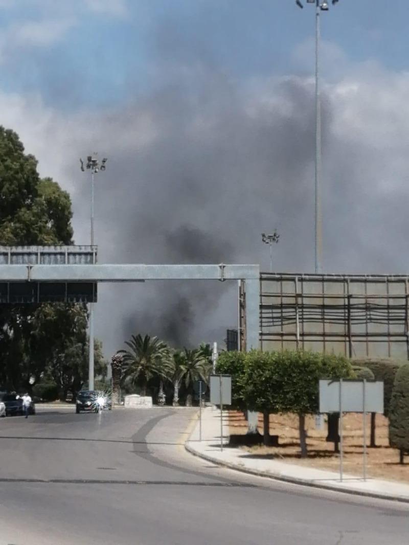 حريق كبير داخل مطار بيروت ولم تعرف التفاصيل بعد
