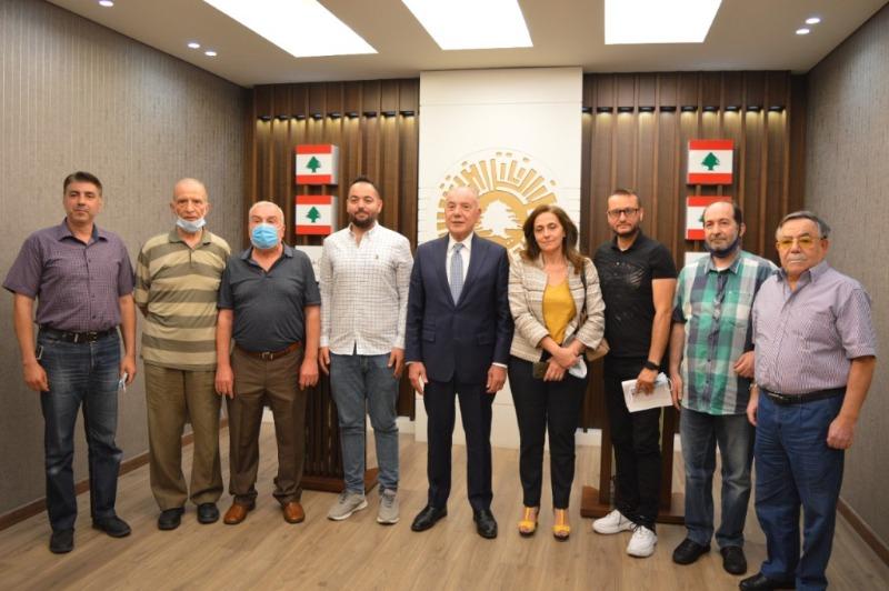 """دبوسي إستقبل جمعية """"الإنماء الاقتصادي للتل"""": لإعادة الألق الى لبنان من طرابلس الكبرى"""