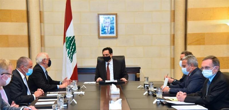 الرئيس دياب بعد استقباله بوريل: مفتاح الحل يكمن في تشكيل حكومة