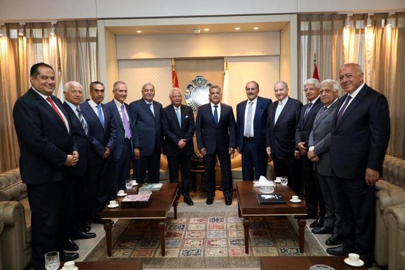 اللواء ابراهيم يستقبل وفداً من مجلس العمل والإستثمار اللبناني في السعودية