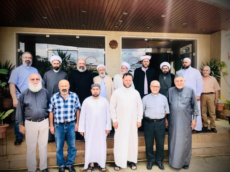 لقاء رجال دين باقليم الخروب يشكر قداسة البابا ومشاركته الصلاة لاجل خلاص لبنان