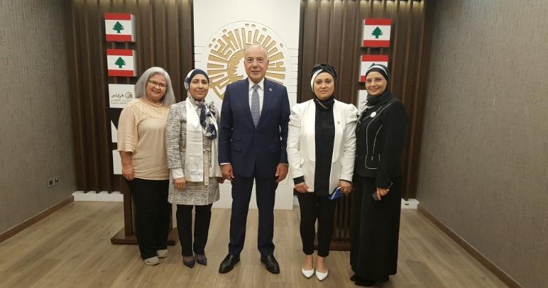 دبوسي إستقبل وفد الإتحاد العربي للمرأة المتخصصة: نحيي شجاعة نساء طرابلس الكبرى ودورهن الفاعل