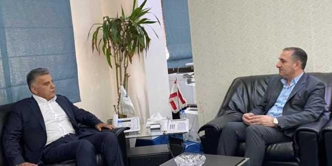 اللواء إبراهيم التقى حواط وتشديد على ضرورة عدم انقطاع الانترنت