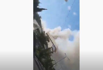بالفيديو.. حريق ضخم يلتهم مستوطنة كريات شمونة