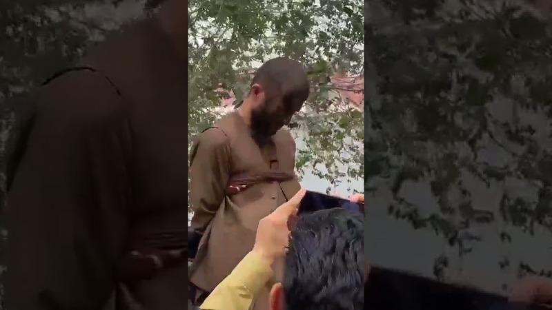 أول عقاب للص سيارات اعتقلته طالبان في العاصمة (فيديو)