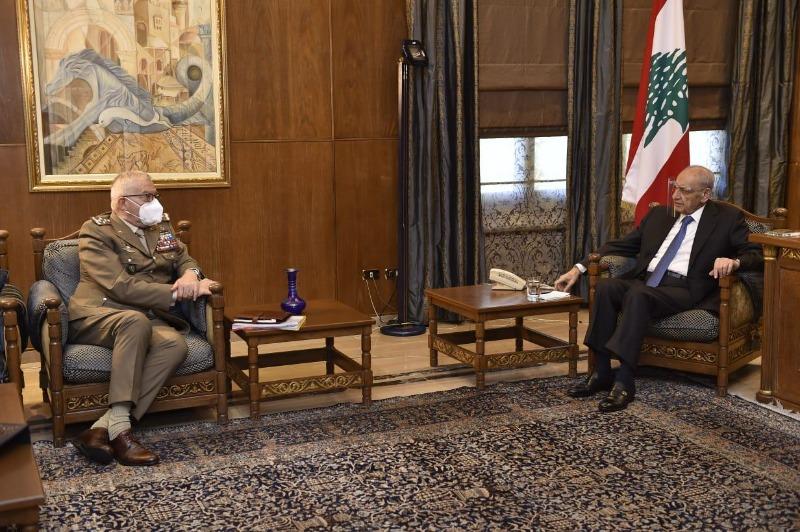 الرئيس بري استقبل غراتسيانو وفرونتسكا والسفير بخاري قدم التعازي برحيل الشيخ قبلان