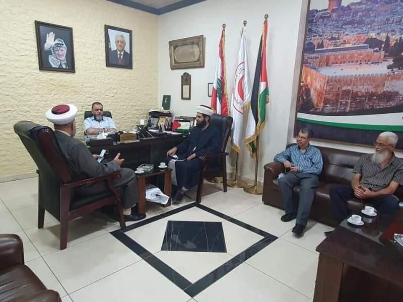 وفد المشاريع زار مستشفى الهمشري وقيادات فلسطينية في صيدا