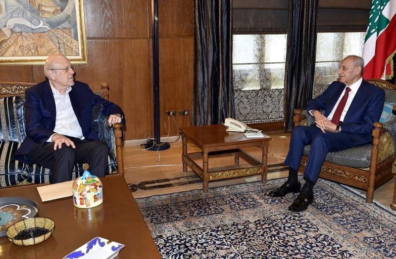 الرئيس ميقاتي بعد لقائه الرئيس بري: لا مانع في زيارة سوريا إذا كان ذلك لا يعرض لبنان لعقوبات